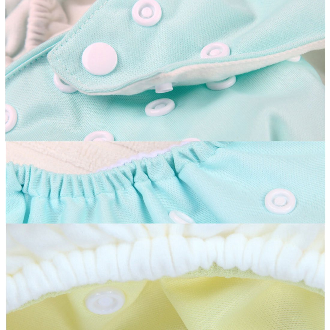 13.7x10.6 inches for baby 6-25 lbs FYGOOD Baby Cloth Diaper Cover Newborn Wrap Snap Diaper Cover 7 pack