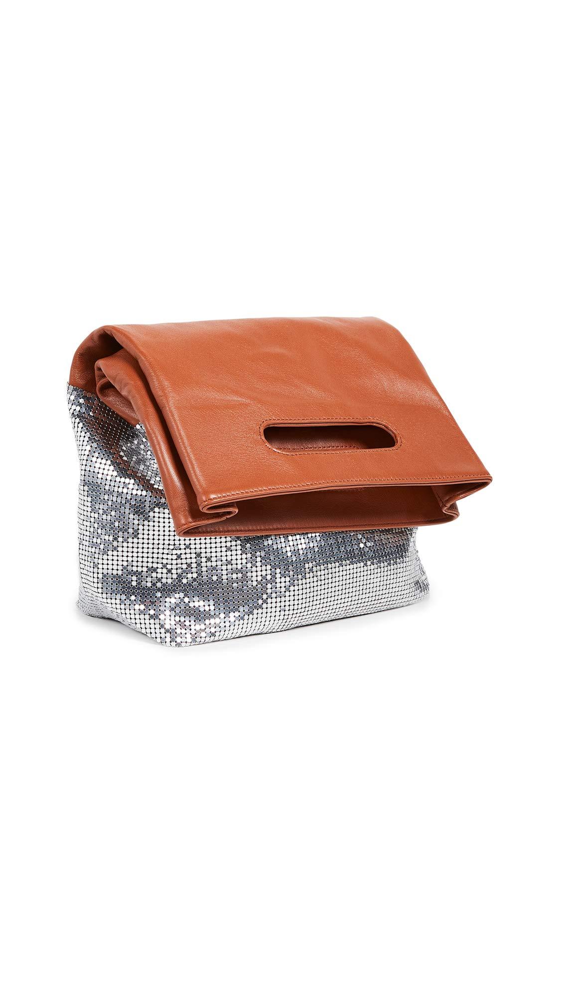 Paco Rabanne Women's Folding Clutch, Rust/Silver, One Size