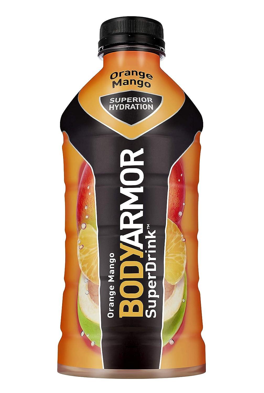 BodyArmor SuperDrink, Electrolyte Sport Drink, 28 oz, Pack of 12 (Orange Mango)