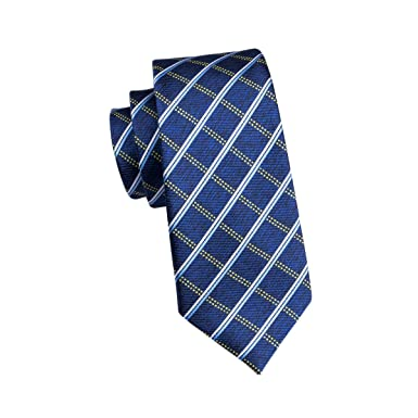 CDBGPZLD Corbatas Para Hombre Clásicas A Cuadros Azules Para ...