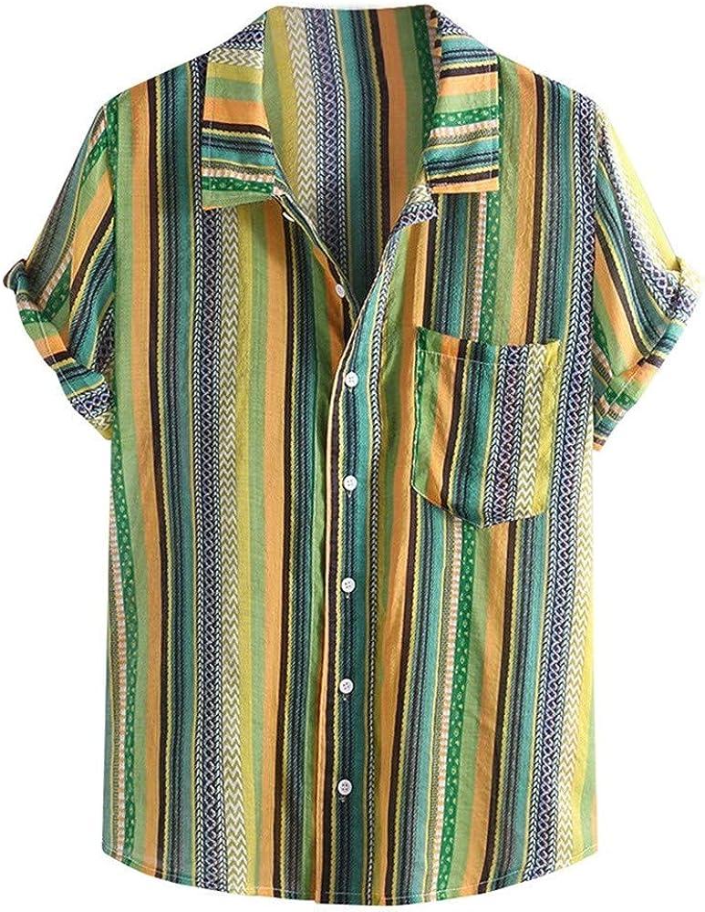 Camisa Hawaiana para Hombre Camisa De Color Arcoiris Camisa Casual Ropa de Fiesta Colorida Camisa De Ocio Multicolor Camisas Tailandesas Capri Camisas De Pescador Camisas Elegantes De Manga Corta Top: Amazon.es: Ropa