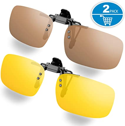 CHILDRENS CLIP ON SUNGLASSES BROWN