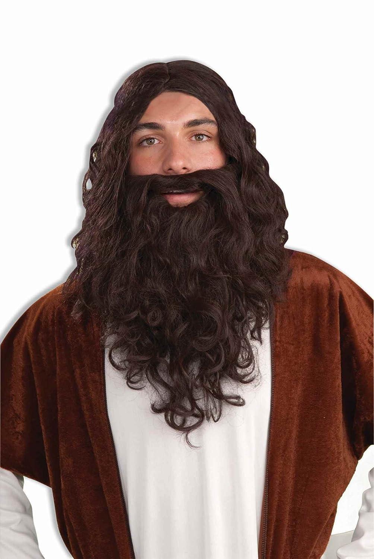 Forum Biblical Wig and Beard Set Brown One Size Forum Novelties Costumes 58216