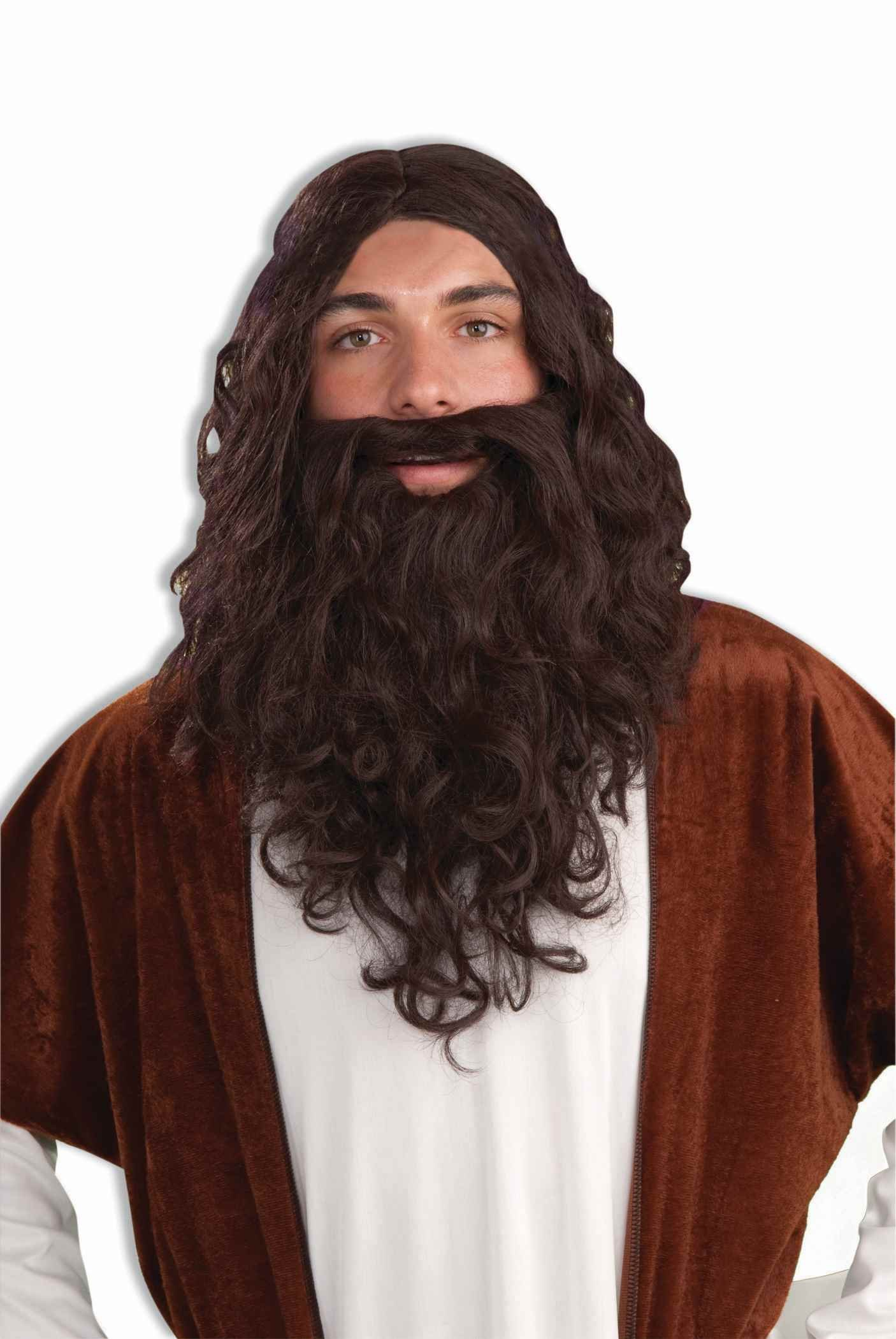 Forum Biblical Wig and Beard Set, Brown, One Size