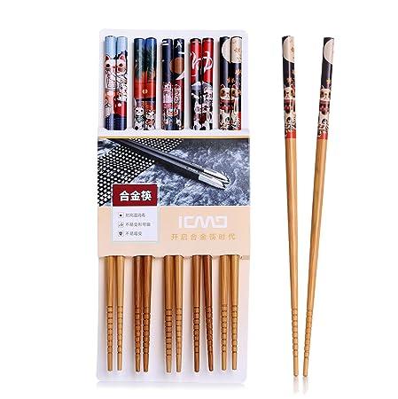 Palillos, 5 par palillos de alta calidad restaurante chino ...