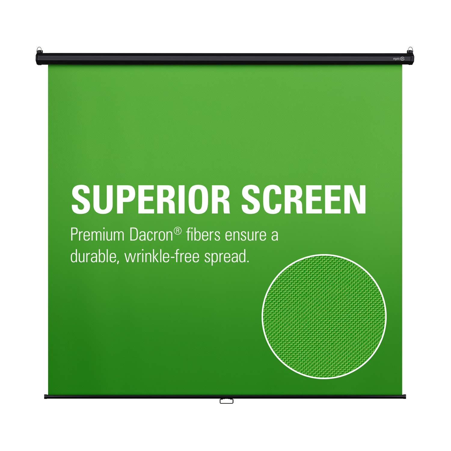 Corsair Elgato Green Screen MT - Mountable Chroma Key Panel for Background Removal, Wrinkle-Resistant Chroma-Green Fabric by Corsair (Image #3)