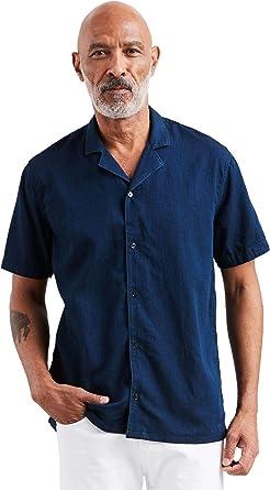Levis de los Hombres Camisa De Manga Corta Cubano, Azul, XXL: Amazon.es: Ropa y accesorios