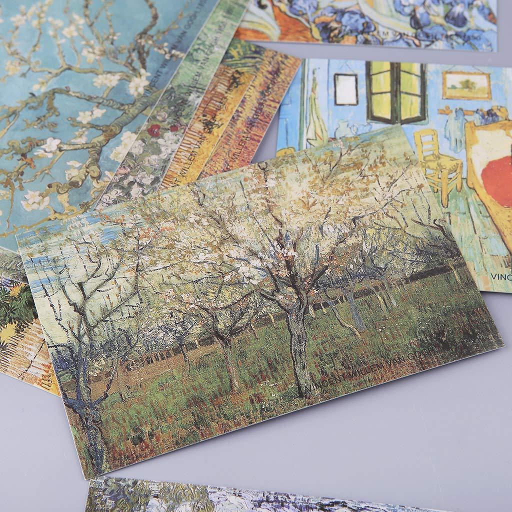Folewr-8 Lote de 30 tarjetas postales de viaje de pinturas de Van Gogh