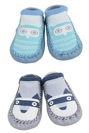 9d6b9df22f01f LCX 2 paires de pantoufles d intérieur de bébé de filles de garçons  chaussettes anti