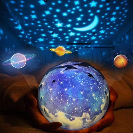 Constellation Night Light Happy Birthday Lamp Moon Projector Rotating Romantic