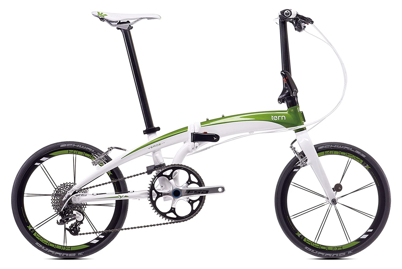 tern(ターン) Verge X10 20インチ 10speed 折りたたみ自転車 2017年モデル B015ZAHX2Cホワイト / グリーン