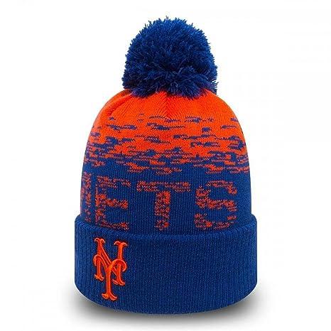 9c7aaa2198c New Era MLB Sport Knit New York Mets Bobble Beanie Hat - O S  Amazon.co.uk   Sports   Outdoors