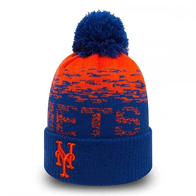 5ff8e62740b New Era MLB Sport Knit New York Mets Bobble Beanie Hat - O S  Amazon.co.uk   Sports   Outdoors