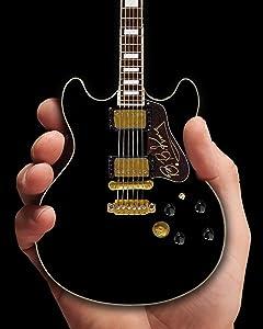 BB King Guitar - Miniature Black Hollow Body Replica of B.B. King's famous hollow body guitar