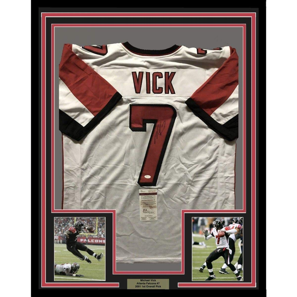Autographed Michael Vick Jersey - FRAMED MIKE 33x42 White COA - JSA  Certified - Autographed NFL Jerseys at Amazon s Sports Collectibles Store 7d7e0fd26