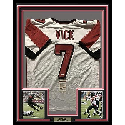 792e56bd22e Autographed Michael Vick Jersey - FRAMED MIKE 33x42 White COA - JSA  Certified - Autographed NFL