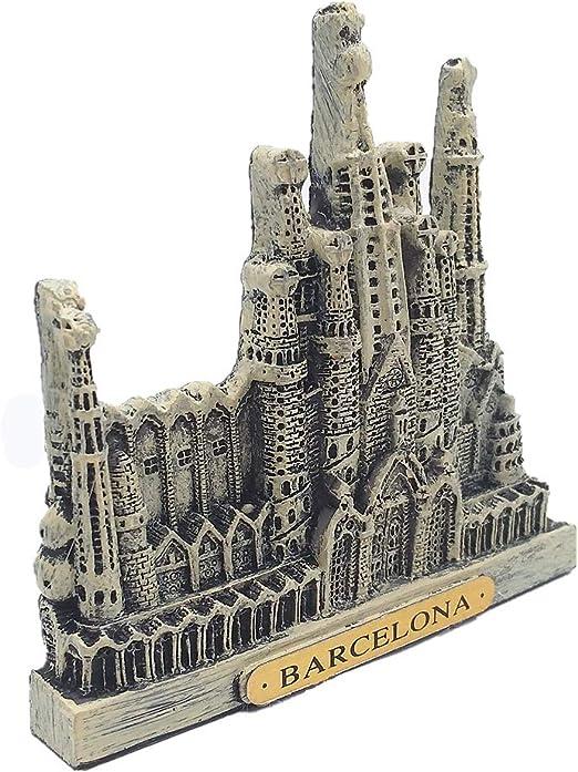 MUYU Magnet Imán para Nevera Barcelona España Souvenir 3D, hogar y Cocina decoración polirresina Barcelona España imán Nevera: Amazon.es: Hogar