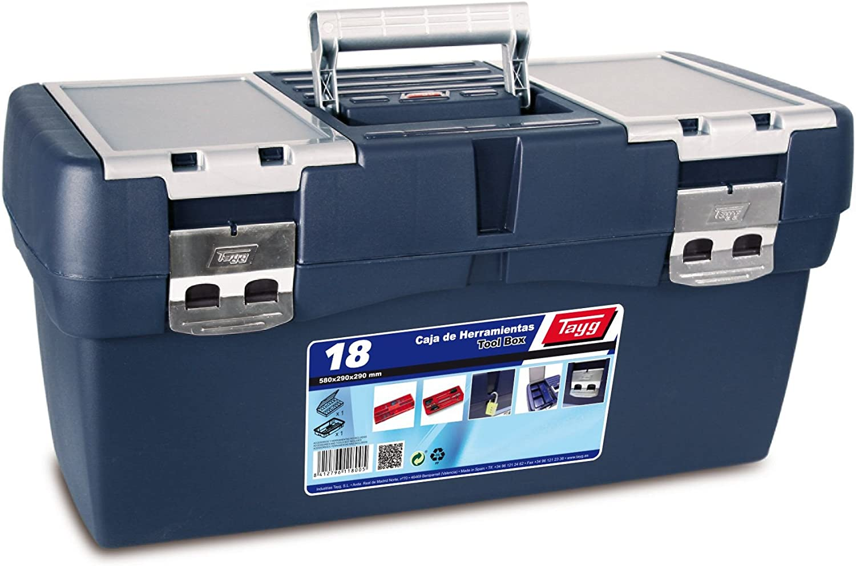 Tayg Caja herramientas plástico n. 18, 580 x 290 x 290 mm: Amazon.es: Bricolaje y herramientas