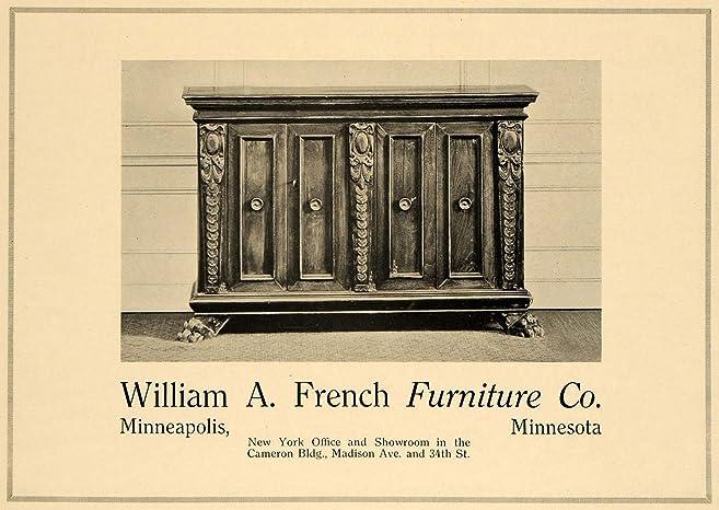 1919 Ad William A. French Furniture Minneapolis MN NY   Original Print Ad