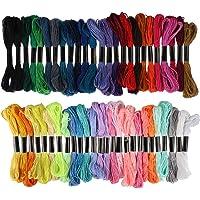 Embroidery Rainbow-Color Friendship Bracelets Floss - Cotton for Cross Stitch Threads, Bracelet Yarn, Craft Floss, Aroic…