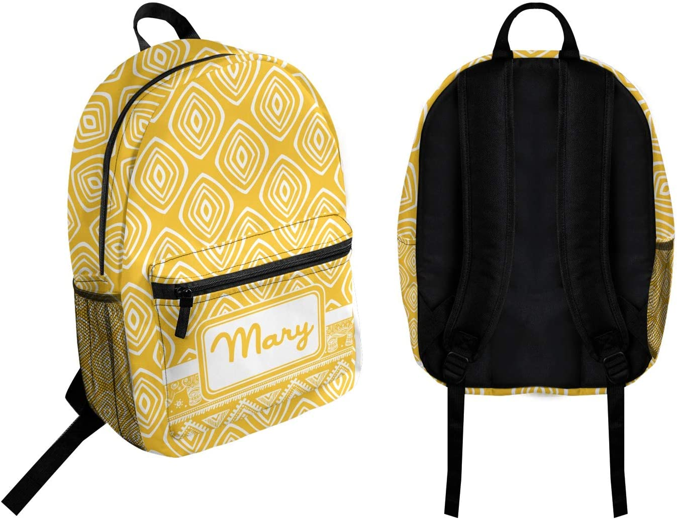 Tribal Diamond Student Backpack Personalized