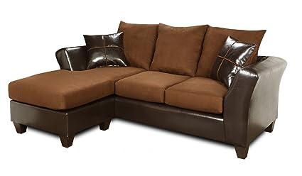 Sensational Amazon Com Chelsea Home Furniture Peyton Sofa Chaise Dailytribune Chair Design For Home Dailytribuneorg