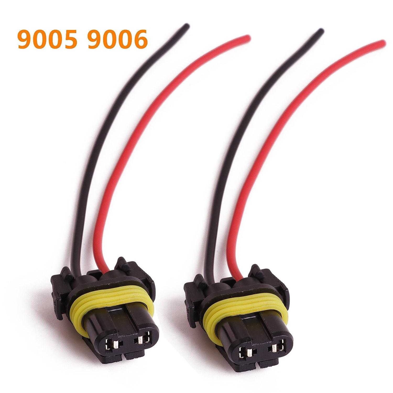 Amazon KAFEEK 9005 9006 Female Adapter Wiring Harness Sockets Wire Automotive