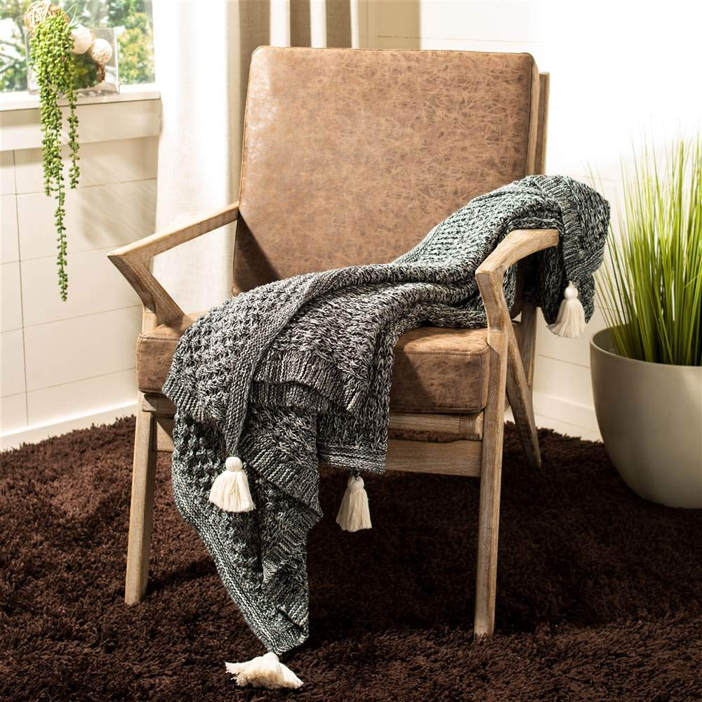 Safavieh Throw in Black and Natural by Safavieh