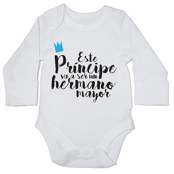 HippoWarehouse Este Príncipe va a ser un Hermano Mayor body manga larga bodys pijama niños niñas unisex: Amazon.es: Ropa y accesorios