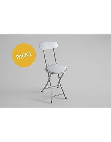Kit Closet Pack 2 Sillas Plegables Blancas, 74 X 50 X 30