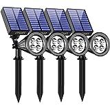 URPOWER Solar Lights Waterproof Solar Lights Outdoor 2-in-1 Adjustable Solar Spotlight Wall Light Auto On/Off Solar…