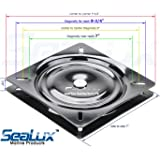 """SeaLux Universal Heavy Duty 360 degree 7"""" to 8-3/4"""" Seat Swivel Base Mount Plate for Bar Stool, Chair, boat or van pilot seat (Large)"""