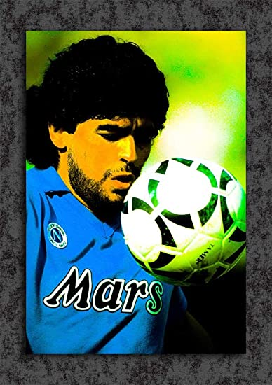 Tamatina S.S.C. Napoli Football Club Wall Poster - Diego Maradona - HD  Quality Football Poster fddf3d0969823