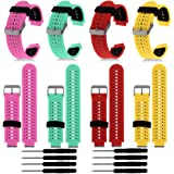 HWHMH Colorful Replacement Silicone Bands With Pin Removal Tools For Garmin Forerunner 220/230/235/620/630 (No Tracker, Replacement Bands Only)