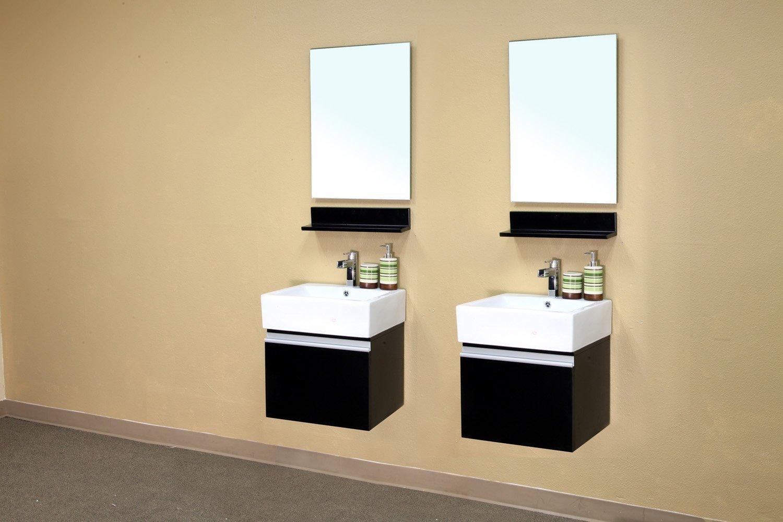 bellaterra home 203145s 205inch single wall mount style sink vanity wood espresso bathroom vanities amazoncom