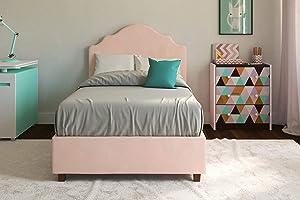 DHP Savannah Upholstered Platform Bed