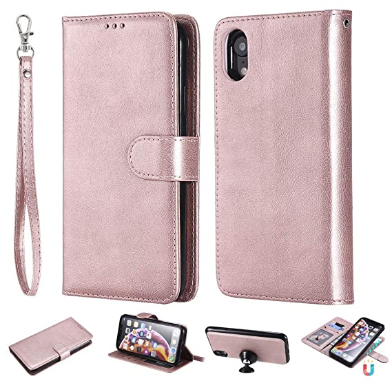 82abe5ce399 Amazon.com  IVY 2 in 1 Wallet Case for iPhone XR