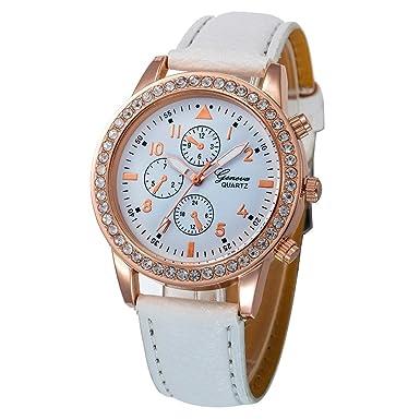 Darringls_Reloj 055 Geneva,Reloje Hombres Mujer Reloj Deportivo Reloj de Pulsera de Cuarzo de aleación de Banda de Cuero de Dibujos: Amazon.es: Ropa y ...