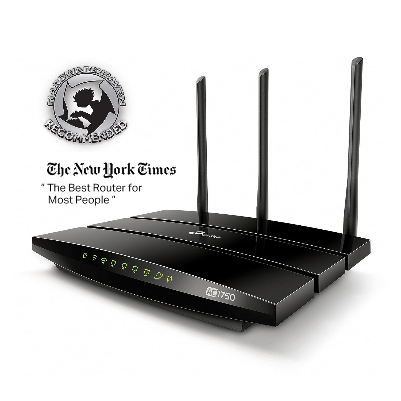 TP-LINK AC1750 - Router (10, 100, 1000 Mbit/s, 10/100/1000Base-T(X), 802.11a, 802.11ac, 802.11b, 802.11g, 802.11n, 6, 54, 450, 1300 Mbit/s, Ethernet (RJ-45) ...