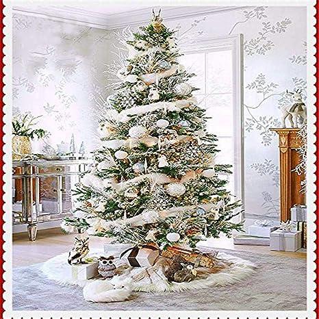78cm de diámetro Decoración del árbol de navidad puro Falda blanca ...