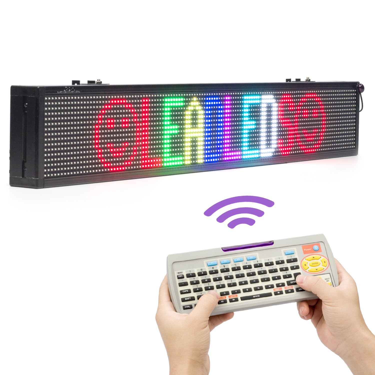 remote led sign