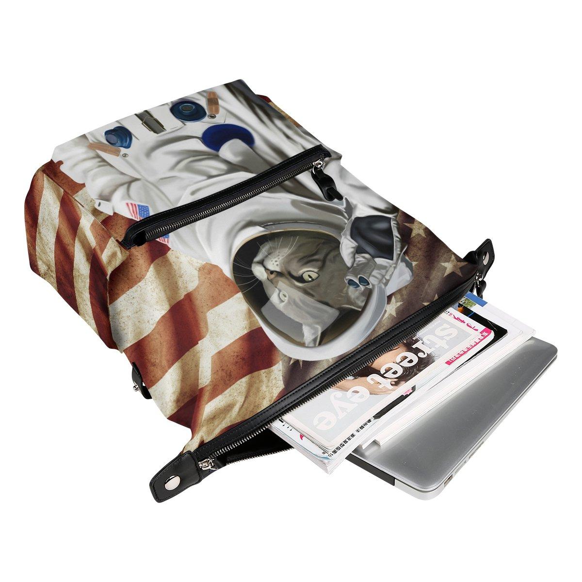 ALAZA astronauta gato en la bandera americana Casual mochila mochila estudiante escuela Bolsa de viaje ligero: Amazon.es: Equipaje