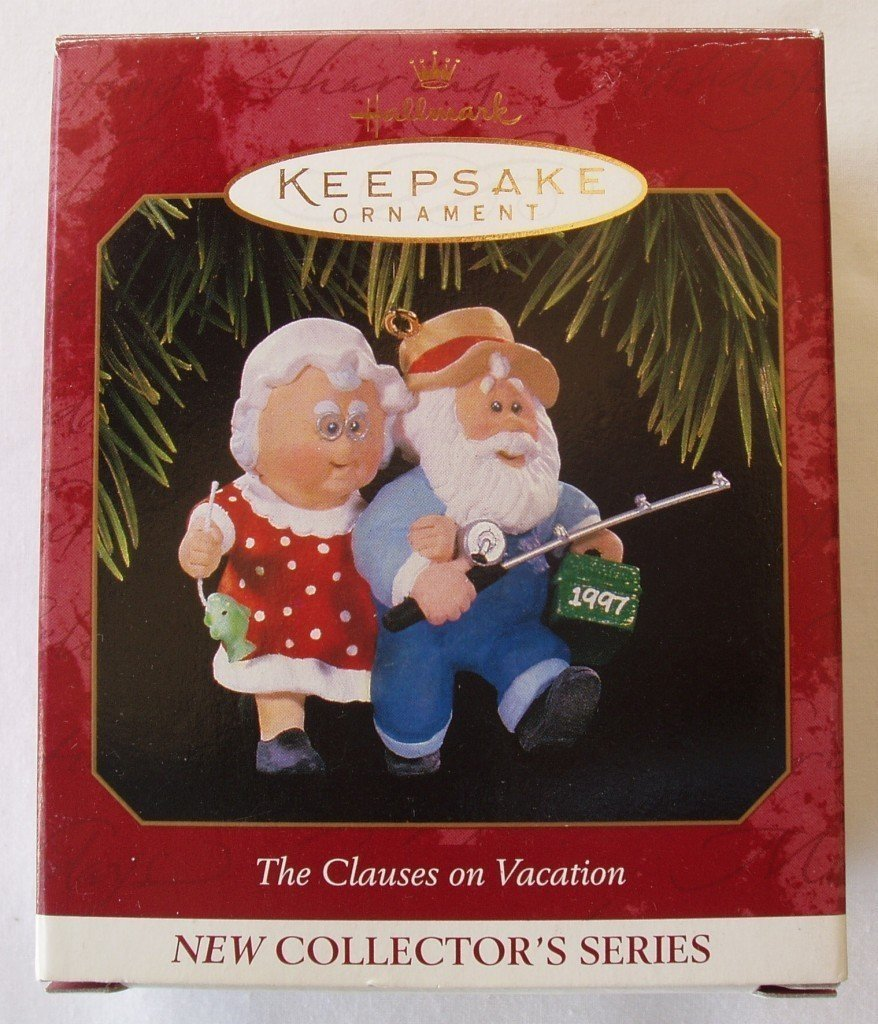 1997 Clauses on Vacation Hallmark Ornament