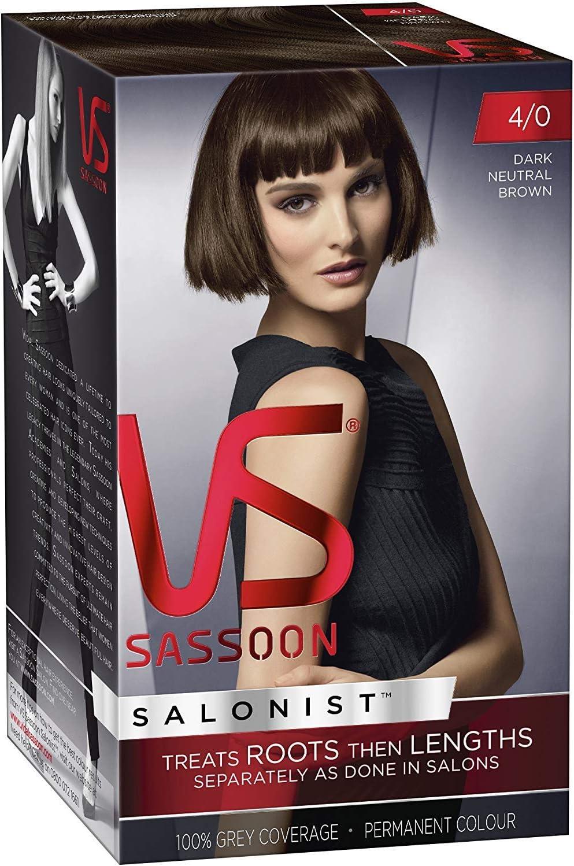 Vidal Sassoon pelo de tinte oscuro Neutro Marrón 4/0