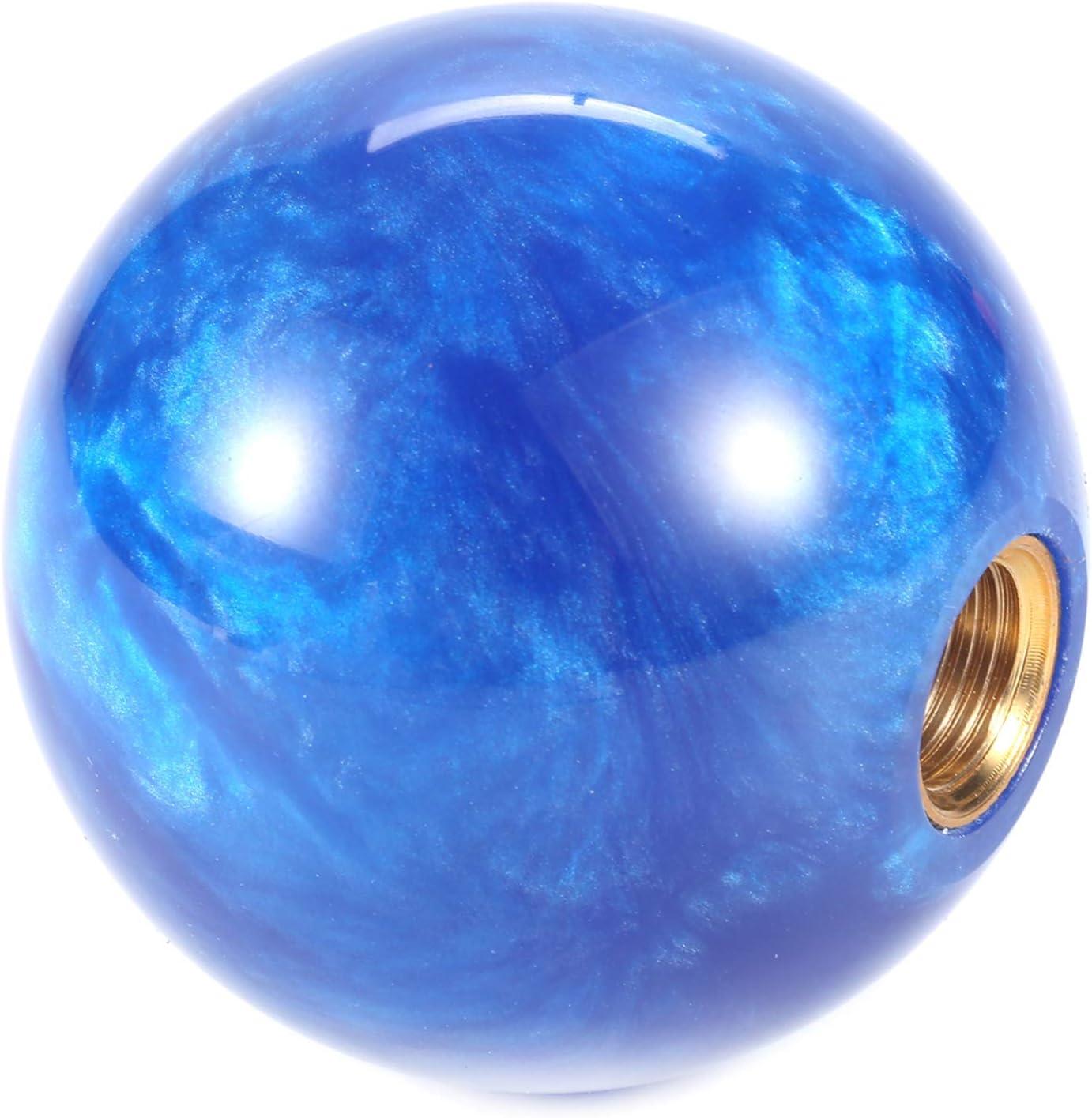 Bashineng Transmission Shifter Head Ball Shape Gear Stick Shift Knob Fit Most Manual Automatic Car Blue