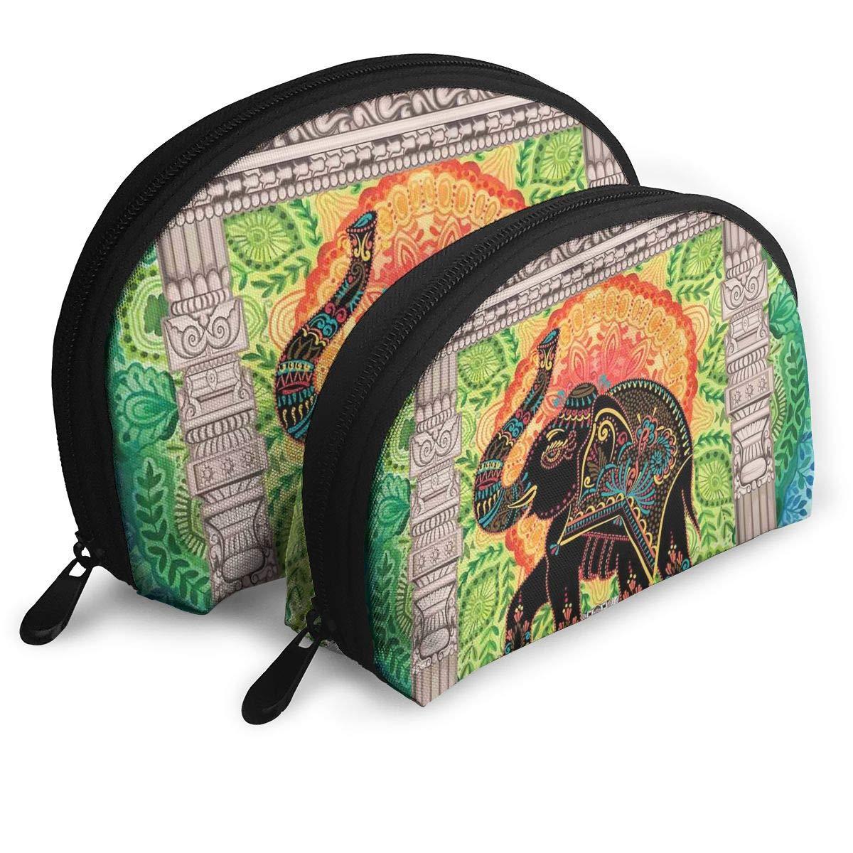 Amazon.com : Shell Shape Makeup Bag Set Portable Purse ...
