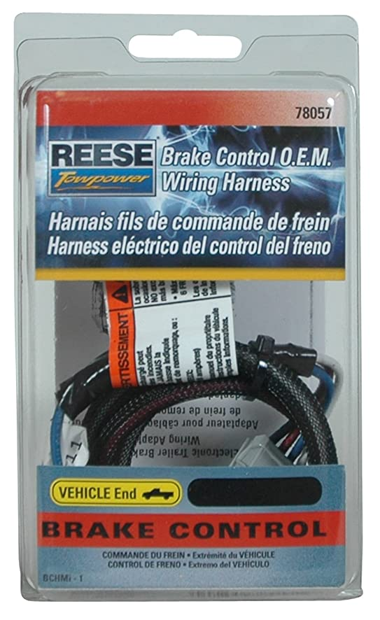 Amazon.com: Reese Towpower 78057 Brake Control Wiring Harness for ...