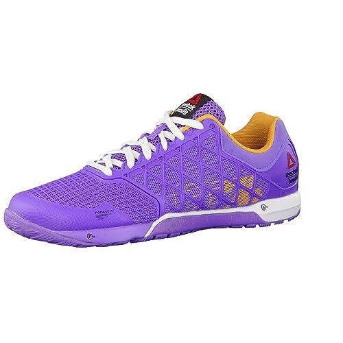 Reebok - Zapatillas para deportes de interior de tela para mujer, color morado, talla 39 EU: Amazon.es: Zapatos y complementos