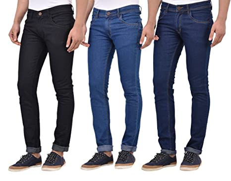 a3fbbb73 Stylox Slim Fit Men Pack of 3 Jeans: Amazon.in: Clothing & Accessories
