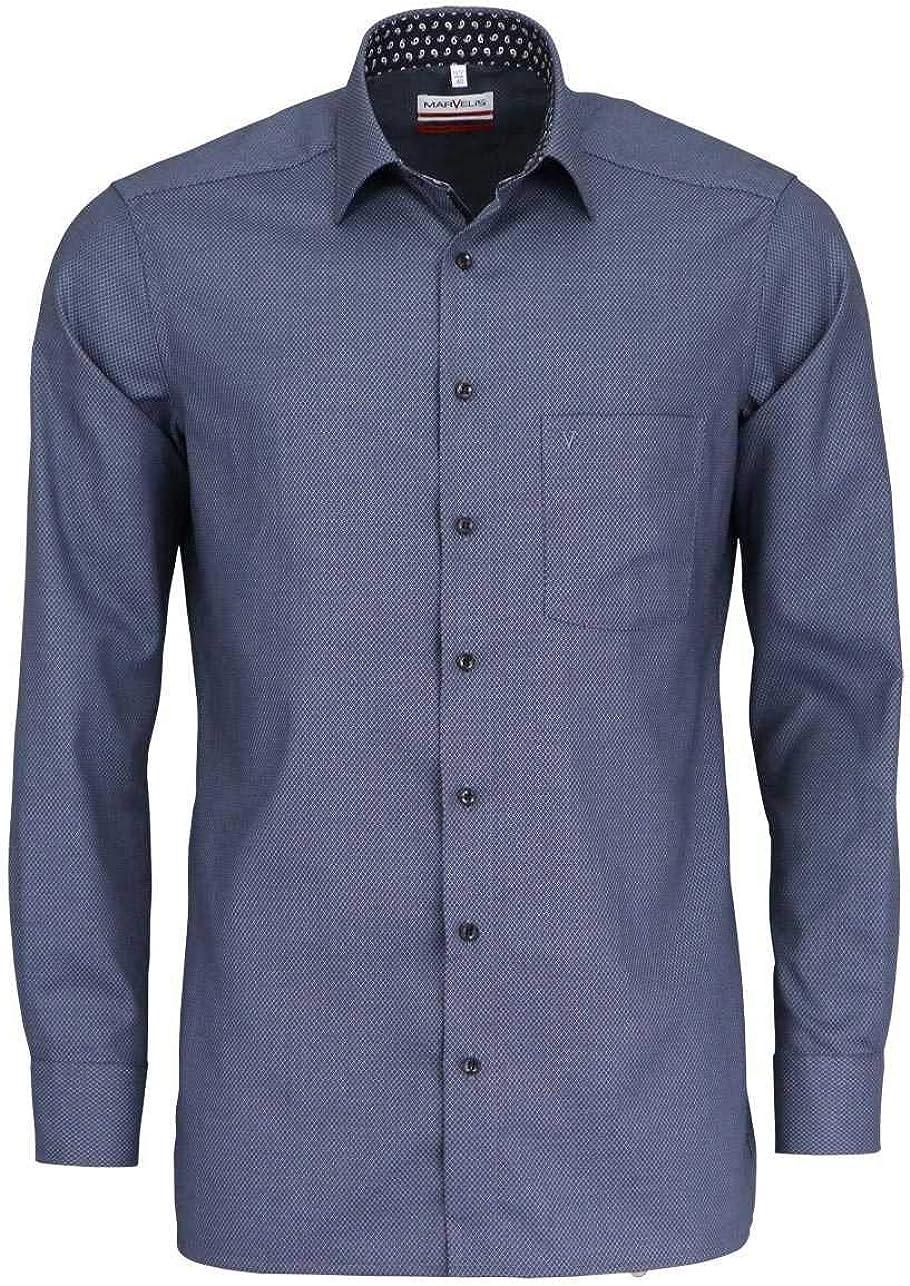 Marvelis - Camisa de manga larga con cuello de estilo moderno, color negro Negro 44: Amazon.es: Ropa y accesorios